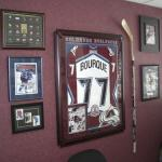 Doctors office - autographed Ray Bourque hockey stick