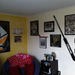 Pittsburgh Penguins goalie Marc-André Fleury hockey stick hanger