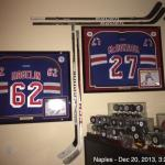 New York Rangers Jersey and Stick shrine!