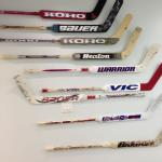 Great collection of goalie sticks