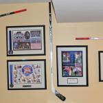 A fantastic display with Alexandar Ovechkin, Joe Thorton, and Nic Backstrom sticks.