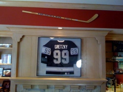 Hang your hockey stick in any direction to meet your collection needs