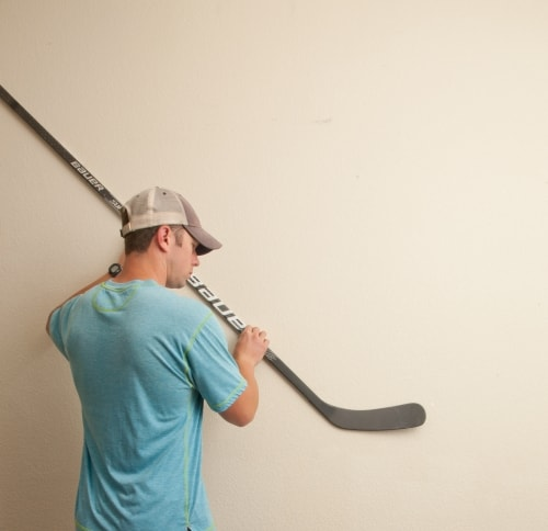 displaying your hockey stick at any angle is possible