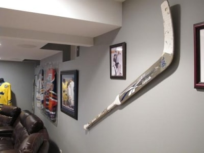 Buffalo Sabres goalie, Ryan Miller, game-used goalie stick