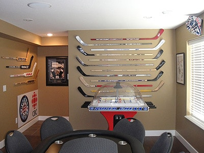 Huge hockey stick collection in British Columbia, Canada