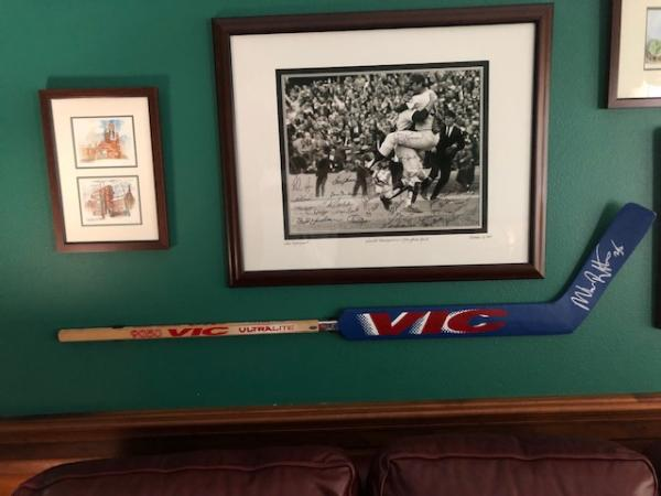 Mike Richter Autographed Goalie Stick Now Nicely Displayed